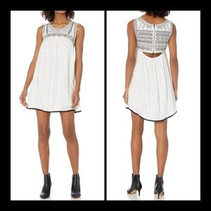 NWT $68 ANGIE SMALL EMBROIDERED BEADED DRESS